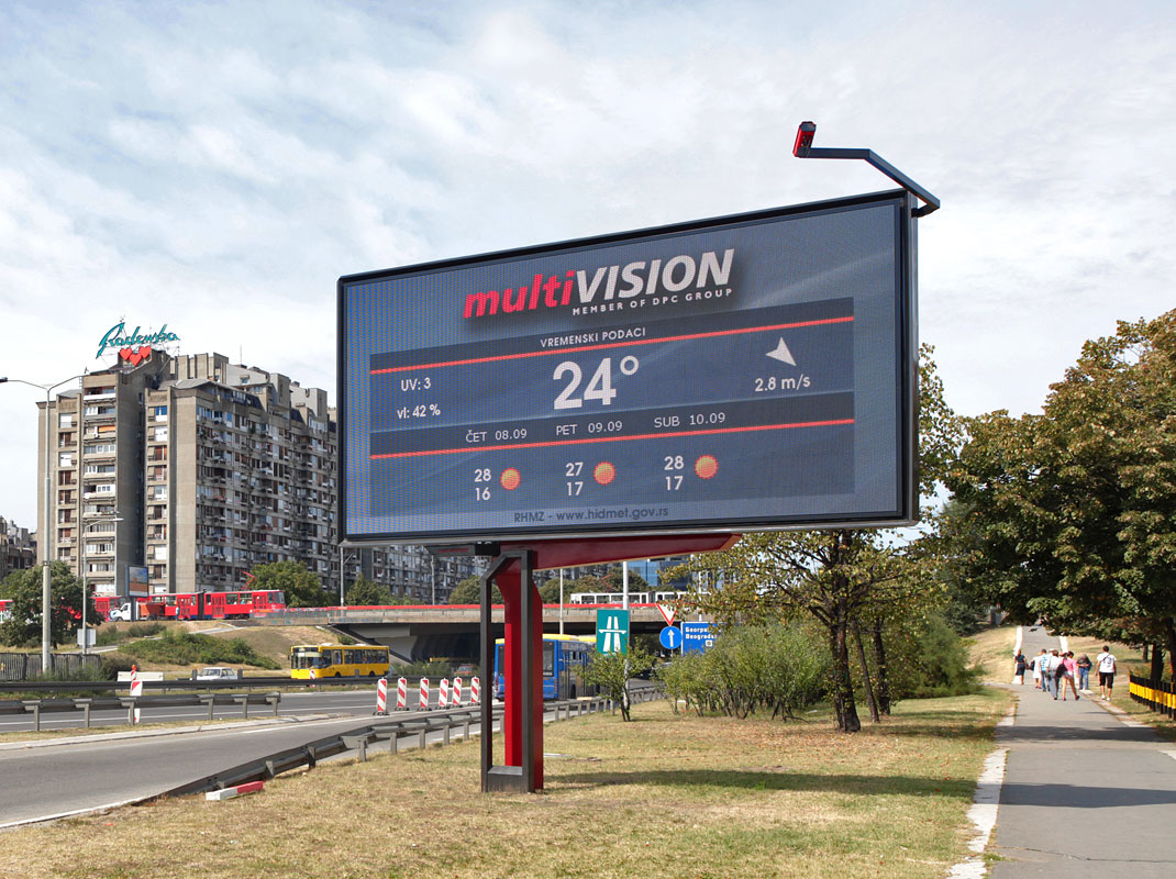 Single Sided Led Digital Billboard 6x3m Panel Size Arths
