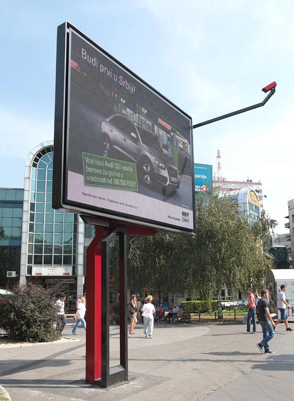Single Sided Led Digital Billboard 4m X 3m Panel Size