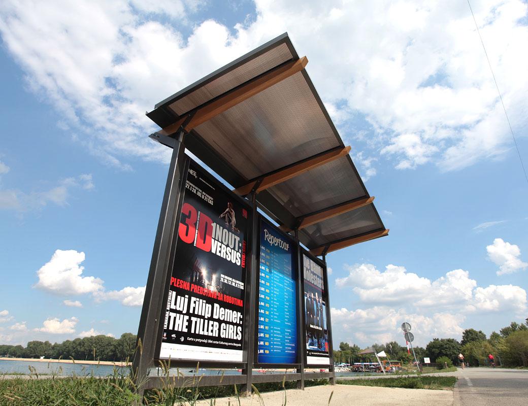 Bus Stop In Central Belgrade Recreational Area Ada