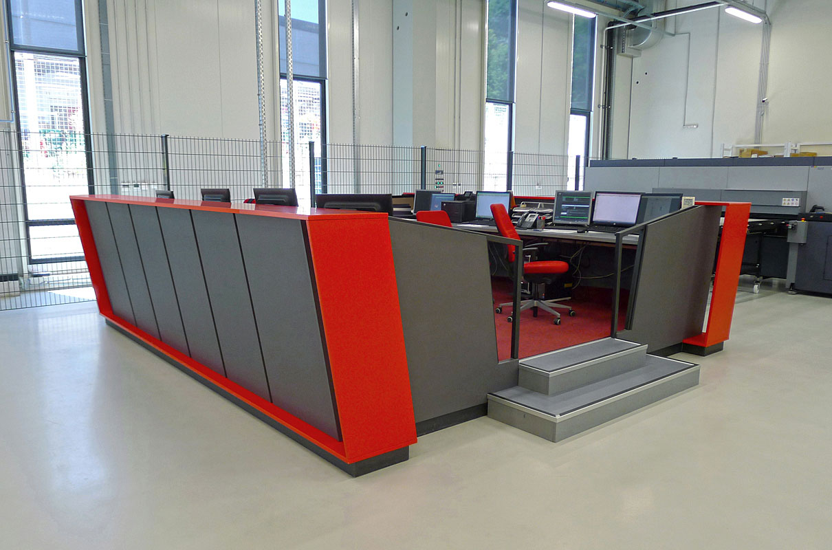 Printing Control Desk And Desk For Printed Matter Delivery