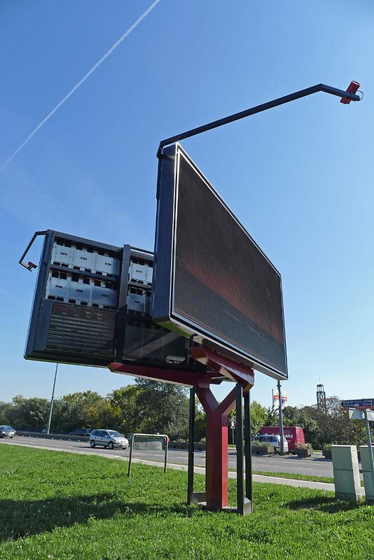V Shaped Double Sided Led Digital Billboard 6x3m Panel